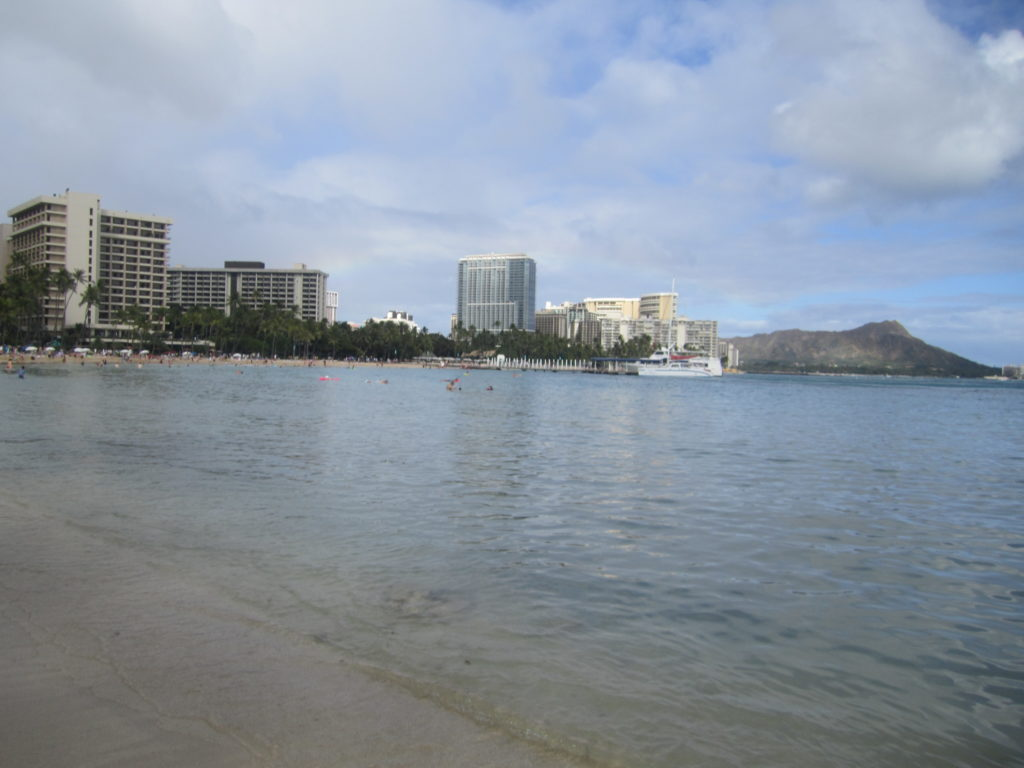 Waikiki Beach in Oahu, Hawaii.